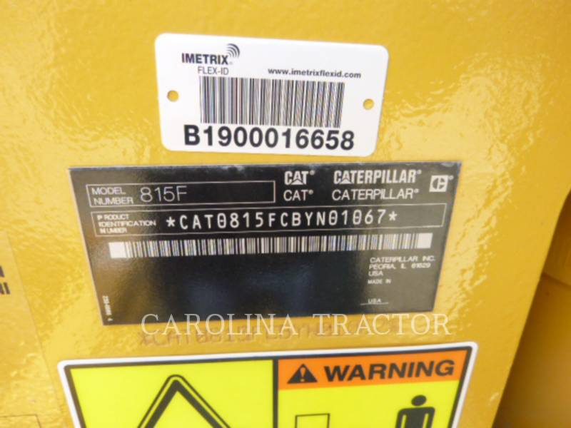Caterpillar COMPACTOARE 815F2 equipment  photo 12