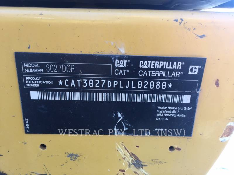 CATERPILLAR PELLE MINIERE EN BUTTE 302.7D equipment  photo 10