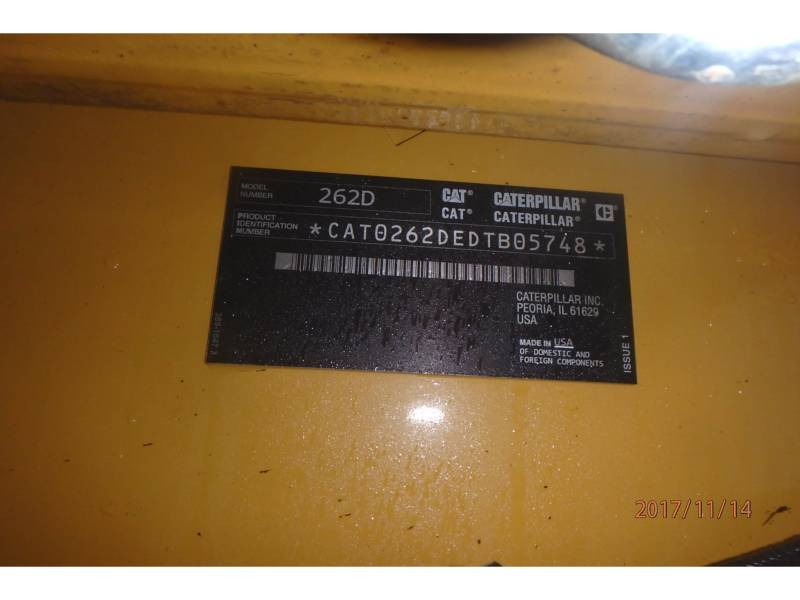 CATERPILLAR KOMPAKTLADER 262D equipment  photo 14