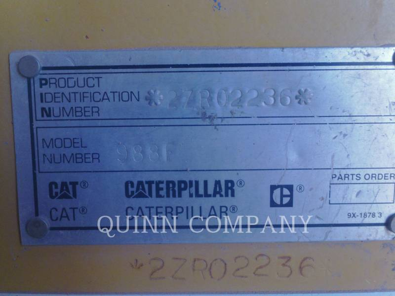 CATERPILLAR CARGADORES DE RUEDAS 988F II equipment  photo 7