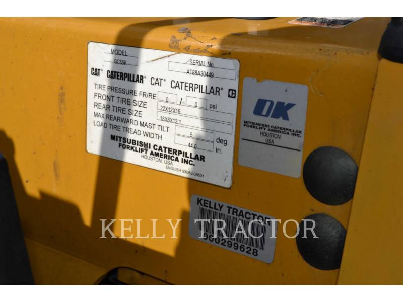 CATERPILLAR LIFT TRUCKS FORKLIFTS GC55K equipment  photo 6