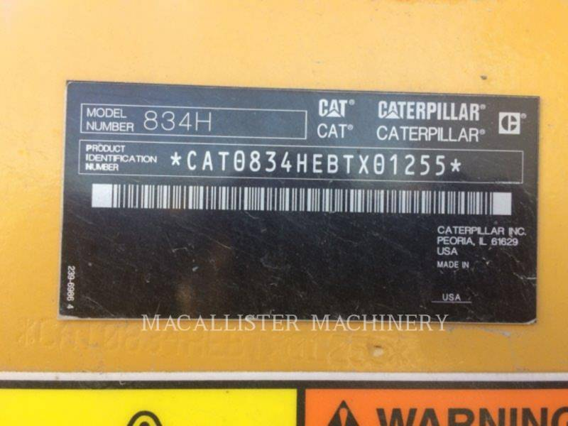 CATERPILLAR DOZER GOMMATI 834H equipment  photo 5