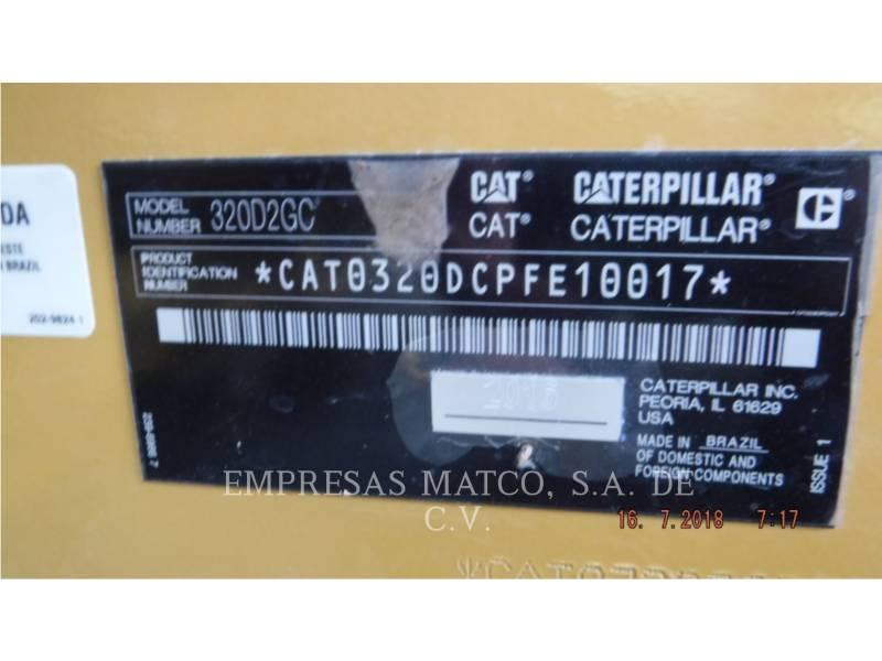 CATERPILLAR TRACK EXCAVATORS 320 D 2 GC equipment  photo 5