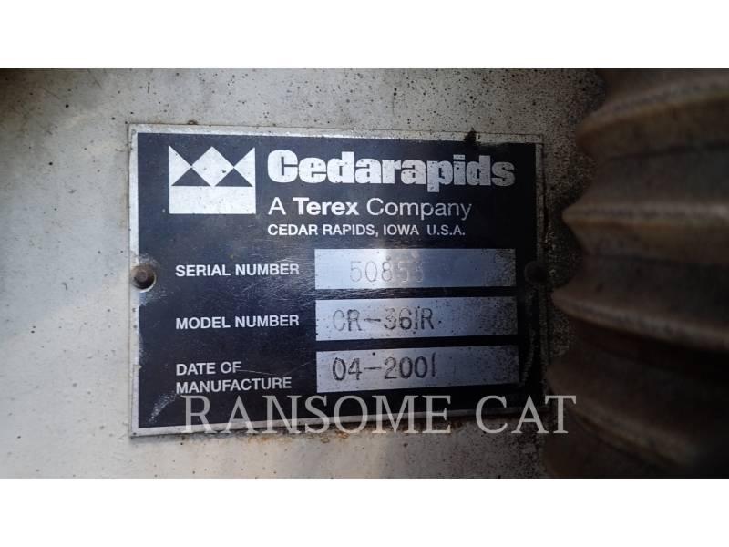 CEDARAPIDS ASPHALT PAVERS CR361 equipment  photo 9