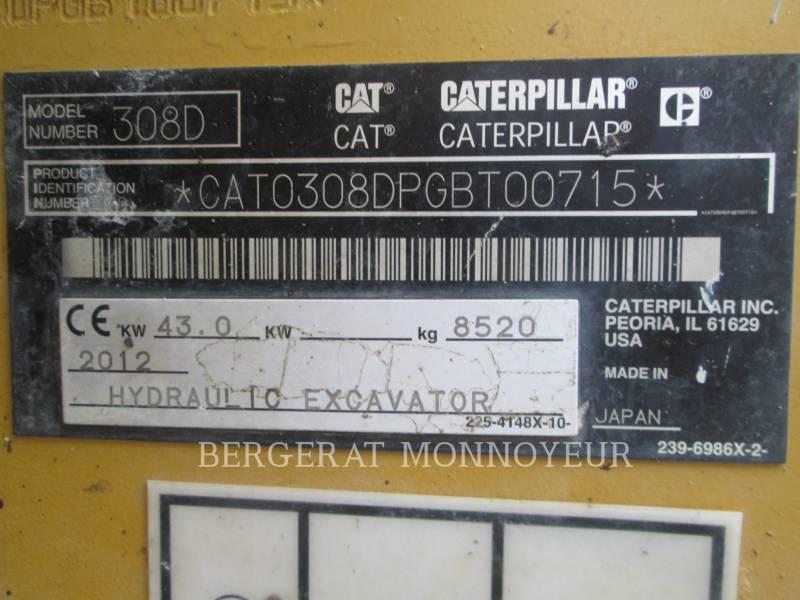 CATERPILLAR TRACK EXCAVATORS 308D equipment  photo 8