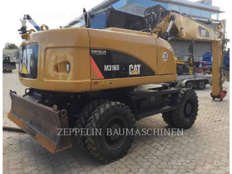 CATERPILLAR PELLES SUR PNEUS M316D equipment  photo 7