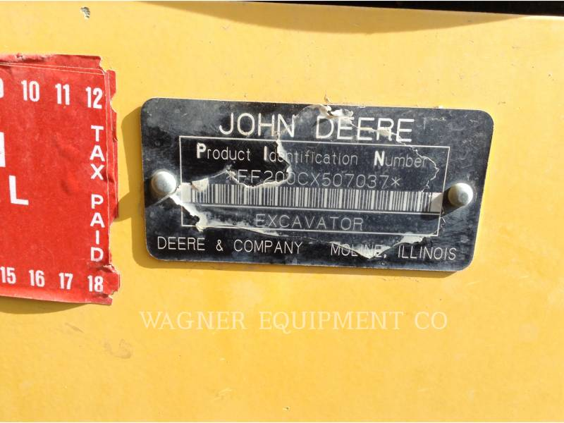 DEERE & CO. EXCAVADORAS DE CADENAS 200C equipment  photo 5