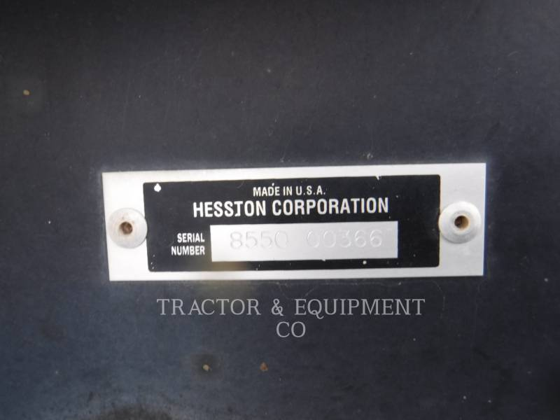 AGCO - HESSTON_ AGRICOLE – ALTELE 8550 equipment  photo 2