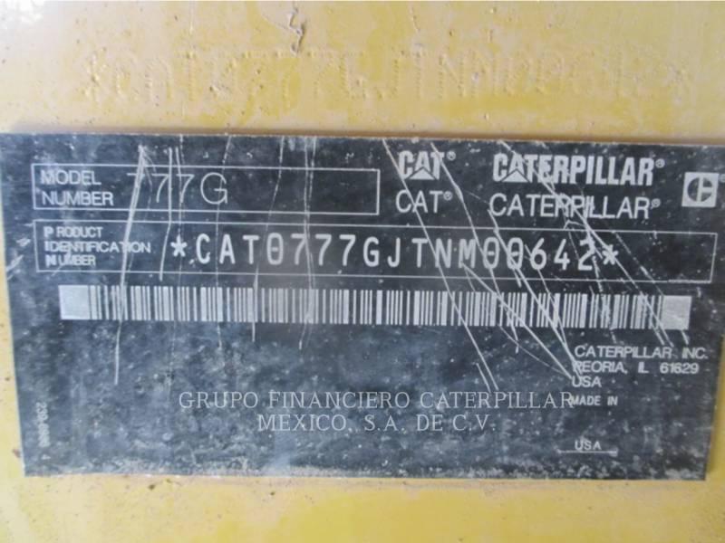 CATERPILLAR CAMINHÕES FORA DA ESTRADA 777GLRC equipment  photo 2