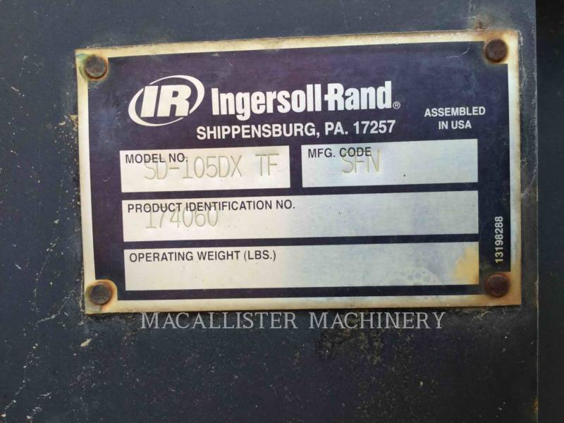 INGERSOLL-RAND EINZELVIBRATIONSWALZE, GLATTBANDAGE SD-105DX TF equipment  photo 5