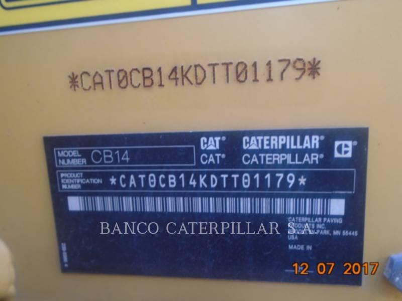 CATERPILLAR VIBRATORY DOUBLE DRUM ASPHALT CB14 equipment  photo 5