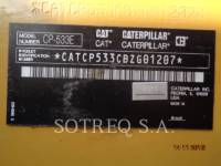 CATERPILLAR VIBRATORY SINGLE DRUM PAD CP-533E equipment  photo 1