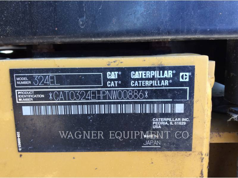 CATERPILLAR TRACK EXCAVATORS 324EL LR equipment  photo 5