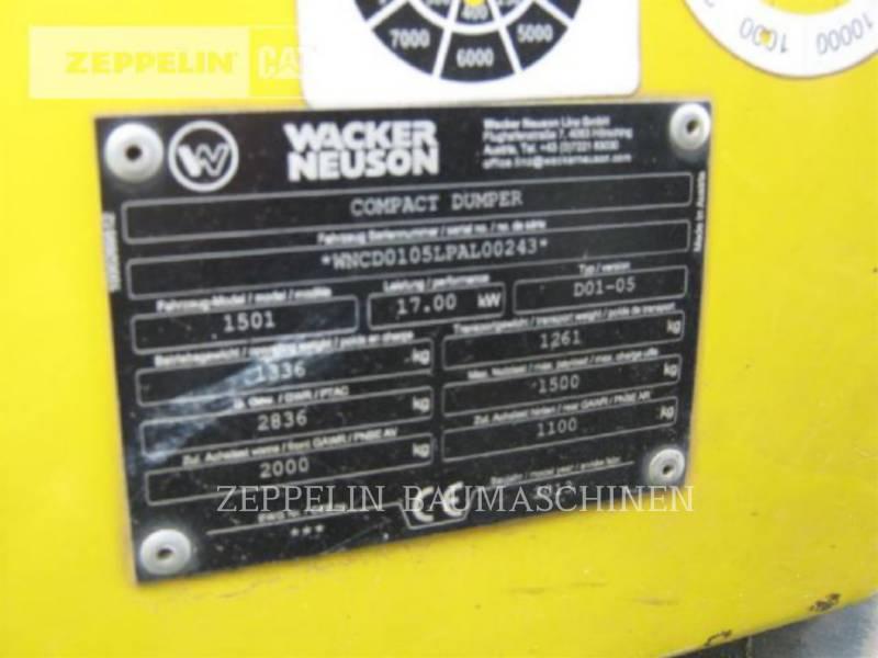 WACKER CORPORATION OFF HIGHWAY TRUCKS 1501 equipment  photo 7