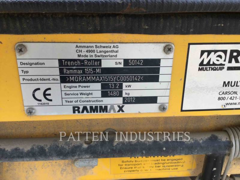 MULTIQUIP COMPACTORS 1515 equipment  photo 6