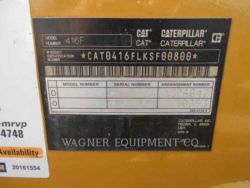 CATERPILLAR BACKHOE LOADERS 416F 4WD equipment  photo 5
