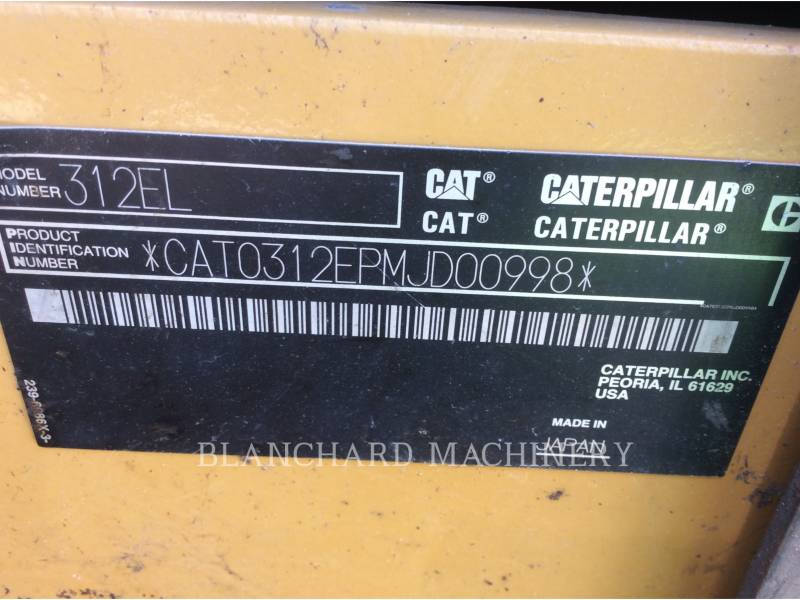 CATERPILLAR ESCAVADEIRAS 312E equipment  photo 11