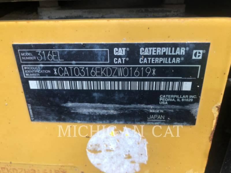 CATERPILLAR TRACK EXCAVATORS 316EL Q28 equipment  photo 15