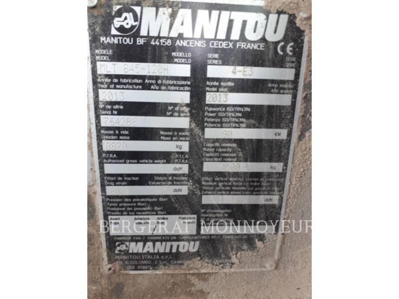 MANITOU BF S.A. TELEHANDLER MLT845-120 equipment  photo 12