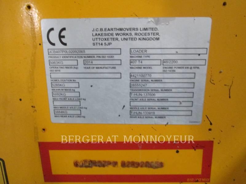 JCB RADLADER/INDUSTRIE-RADLADER 407BT4 equipment  photo 17