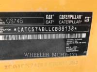 CATERPILLAR VIBRATORY SINGLE DRUM SMOOTH CS74B equipment  photo 5