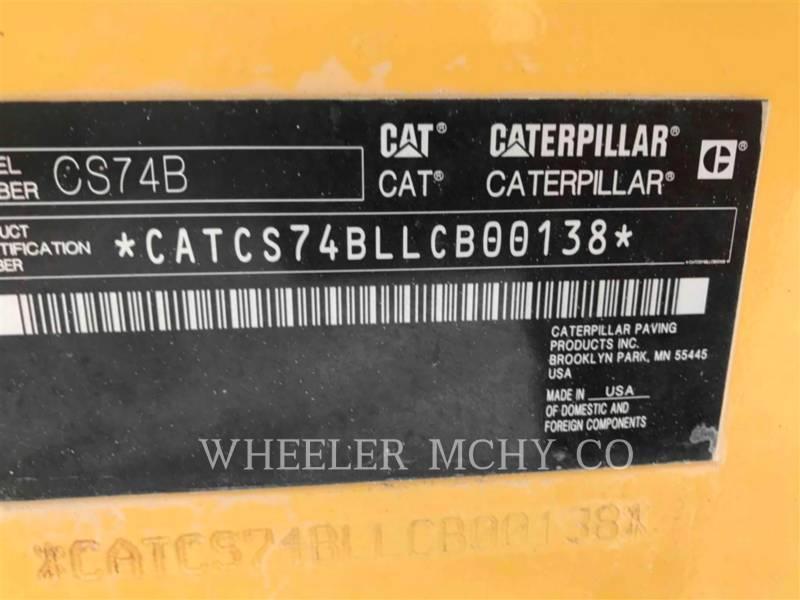 CATERPILLAR 振動シングル・ドラム・スムーズ CS74B equipment  photo 5