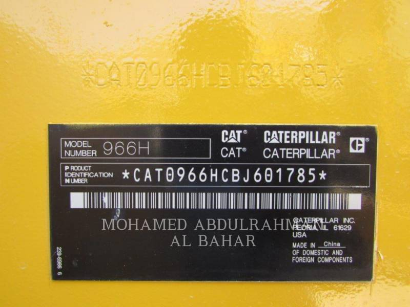 CATERPILLAR RADLADER/INDUSTRIE-RADLADER 966 H equipment  photo 16