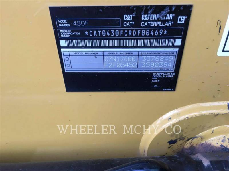 CATERPILLAR BACKHOE LOADERS 430F E CF equipment  photo 5