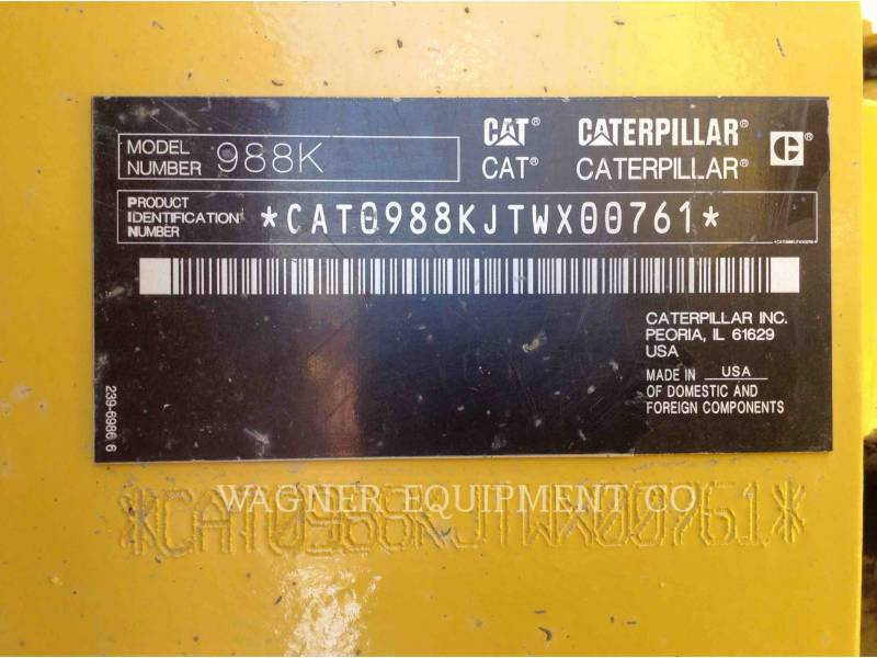 CATERPILLAR CARGADORES DE RUEDAS 988K equipment  photo 8