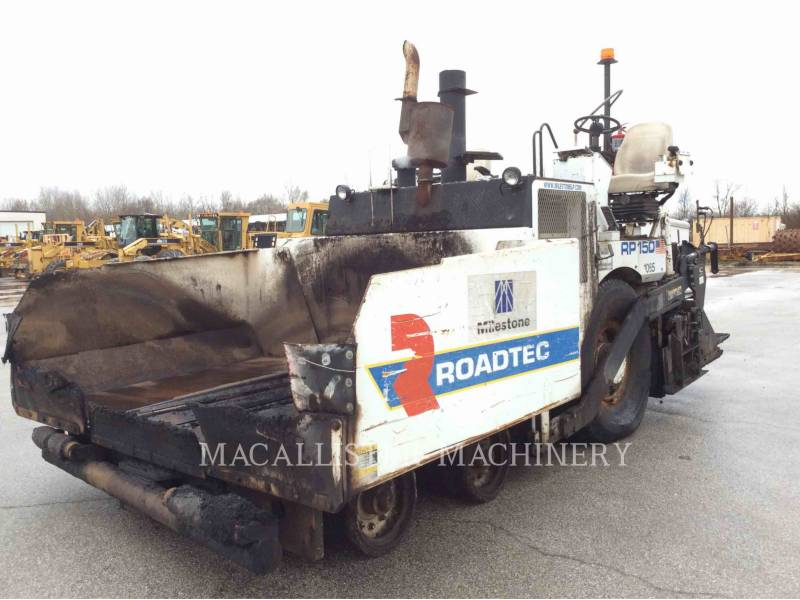 ROADTEC ASPHALT PAVERS RP150 equipment  photo 2