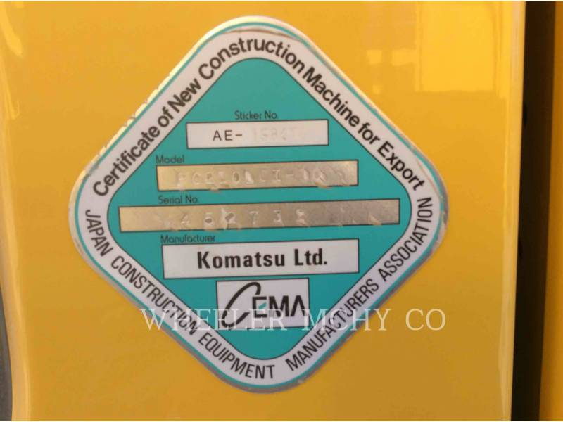 KOMATSU KOPARKI GĄSIENICOWE PC210LC1 equipment  photo 7