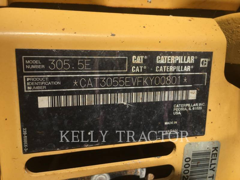 CATERPILLAR TRACK EXCAVATORS 305.5ECR equipment  photo 15