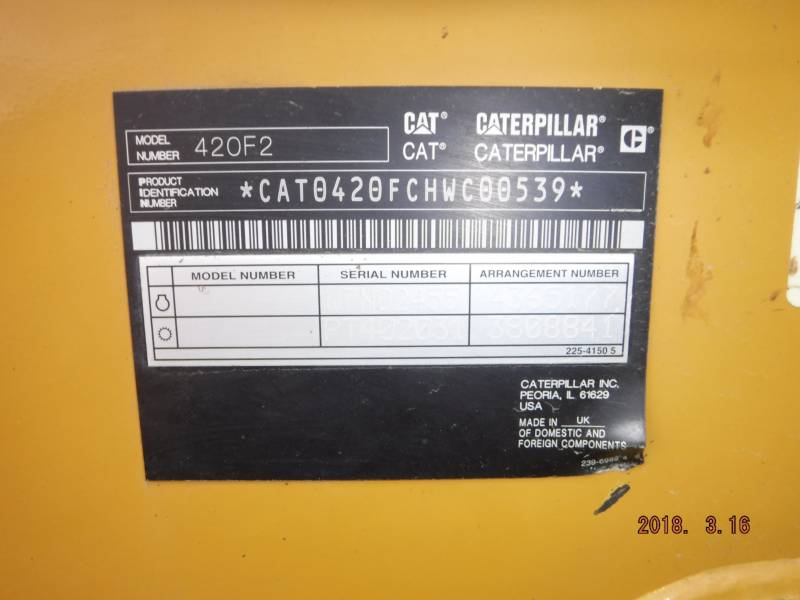 CATERPILLAR BAGGERLADER 420F2ST equipment  photo 14