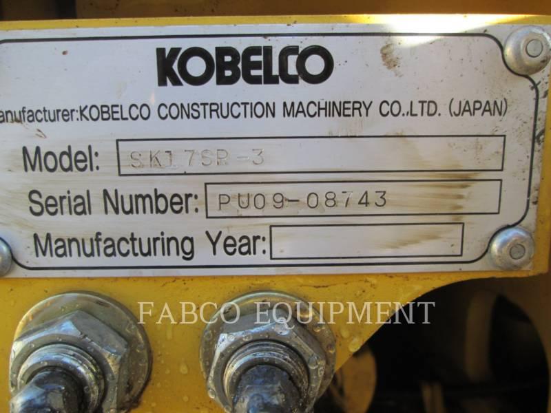 KOBELCO/KOBE STEEL LTD EXCAVATOARE PE ŞENILE SK017 equipment  photo 5