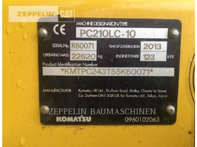 KOMATSU LTD. RUPSGRAAFMACHINES PC210-10 equipment  photo 2