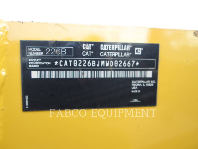 CATERPILLAR MINICARREGADEIRAS 226B3 equipment  photo 5