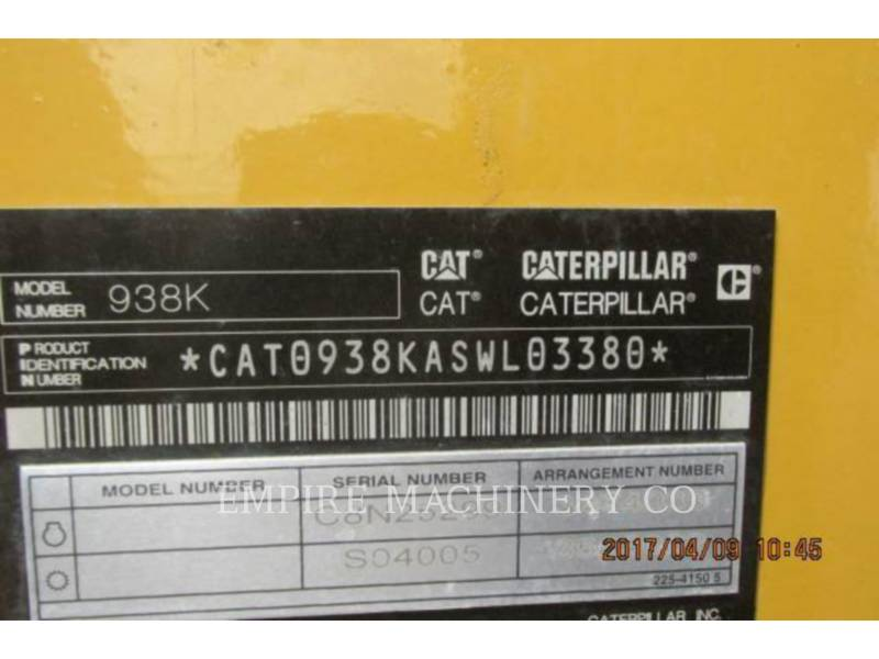 CATERPILLAR CARGADORES DE RUEDAS 938K FC equipment  photo 17