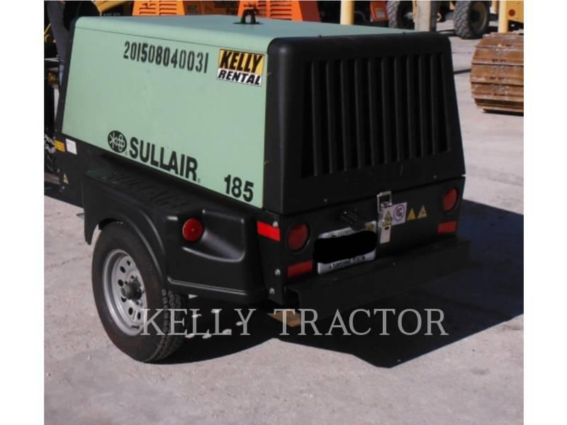 SULLAIR AIR COMPRESSOR 185DPQ equipment  photo 2
