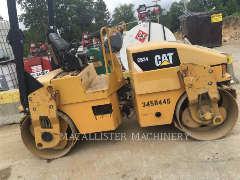 CATERPILLAR VIBRATORY DOUBLE DRUM ASPHALT CB34 equipment  photo 1