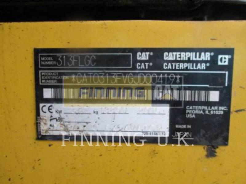 CATERPILLAR TRACK EXCAVATORS 313FLGC equipment  photo 3