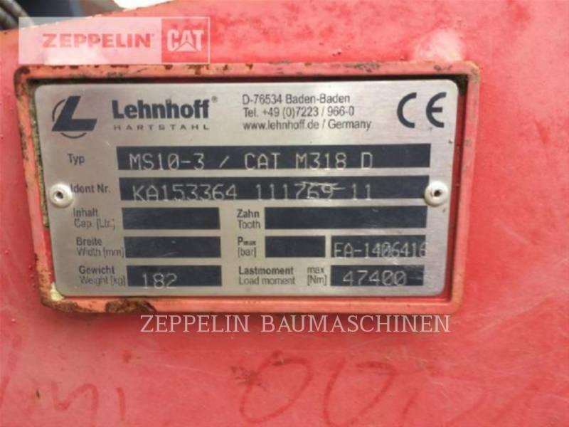LEHNHOFF AG - HECKBAGGER-ARBEITSGERÄT MS10-3 f. CAT M318D equipment  photo 2