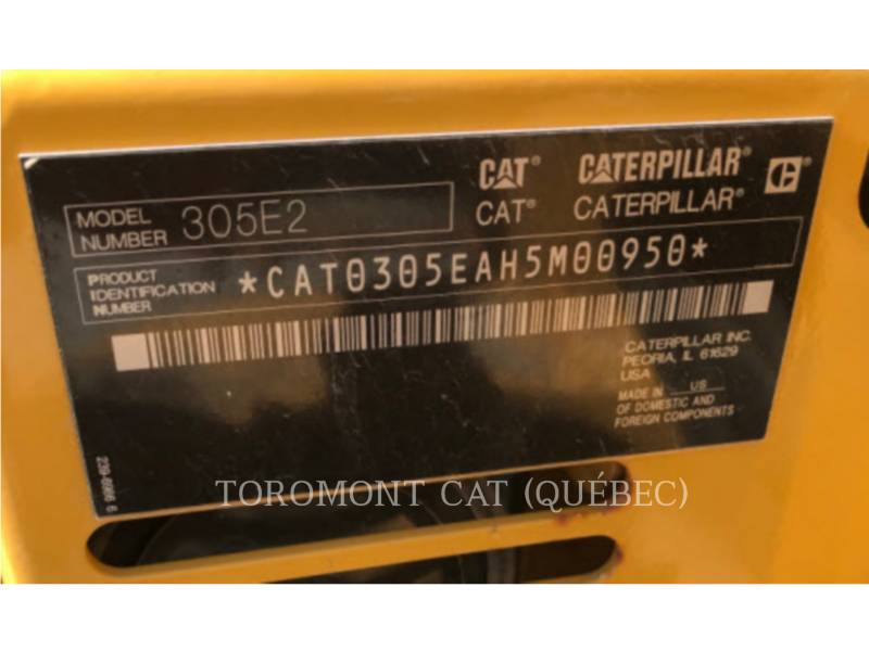 CATERPILLAR PELLES SUR CHAINES 305E2CR equipment  photo 12