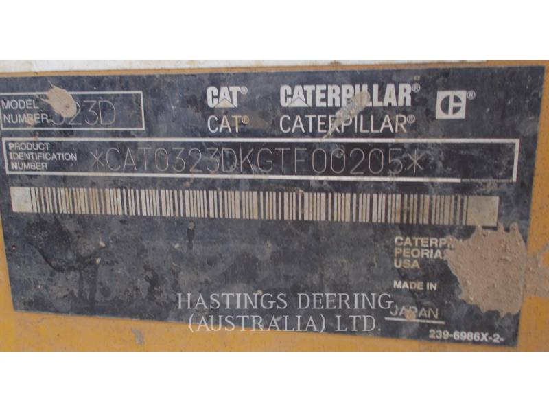 CATERPILLAR ESCAVATORI CINGOLATI 323DL equipment  photo 9