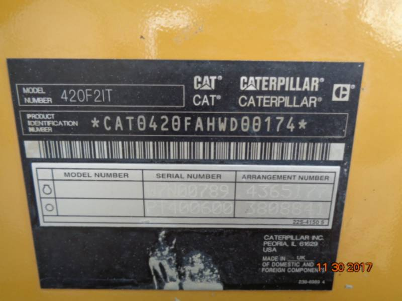CATERPILLAR BAGGERLADER 420F2IT equipment  photo 20