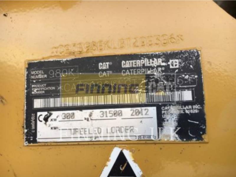 CATERPILLAR CHARGEURS SUR PNEUS/CHARGEURS INDUSTRIELS 980K HL equipment  photo 8