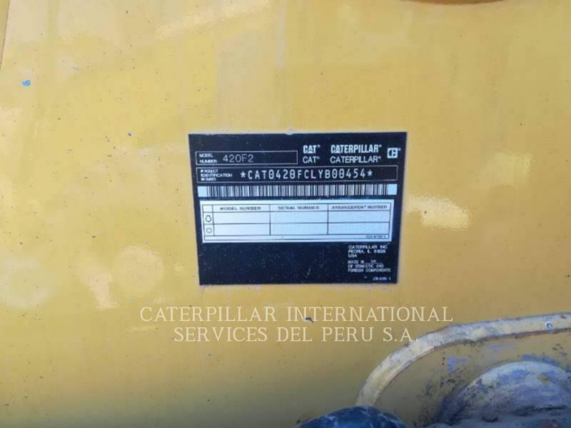 CATERPILLAR BACKHOE LOADERS 420F2STLRC equipment  photo 2