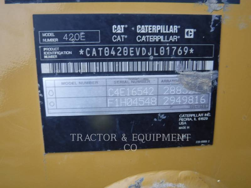 CATERPILLAR RETROEXCAVADORAS CARGADORAS 420E equipment  photo 2