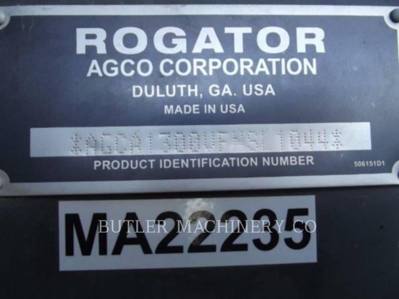 ROGATOR SPRAYER RG13T4W100 equipment  photo 10