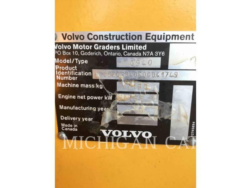 VOLVO CONSTRUCTION EQUIPMENT MOTONIVELADORAS G940 equipment  photo 8