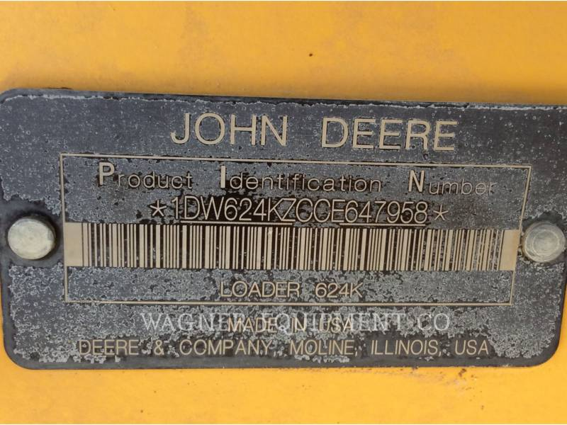 DEERE & CO. TRACK TYPE TRACTORS 624K equipment  photo 10